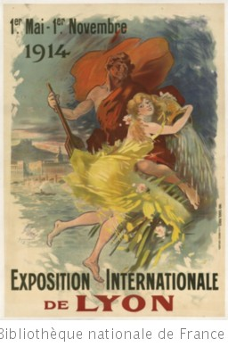1er mai - 1er novembre 1914. Exposition internationale de Lyon : [affiche]
